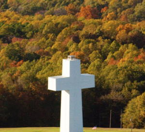 fall colors at the cross