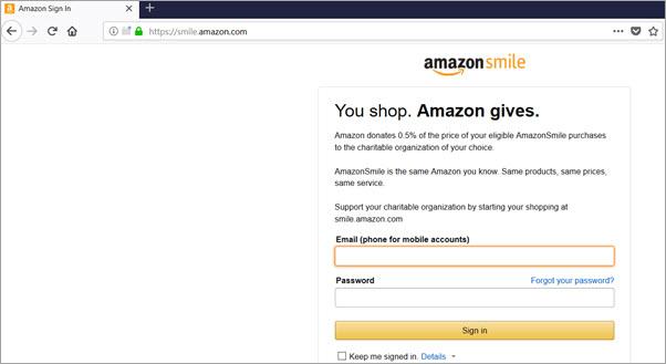 Donate Through AmazonSmile